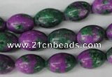 CLA503 15.5 inches 10*14mm rice synthetic lapis lazuli beads