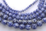 CLA51 Different sizes round mixed color dyed lapis lazuli beads