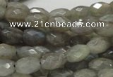 CLB10 16 inches 8*12mm faceted rice labradorite gemstone beads