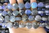CLB1024 15.5 inches 14mm faceted coin labradorite gemstone beads