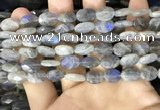 CLB1041 15.5 inches 8*12mm faceted oval labradorite beads wholesale