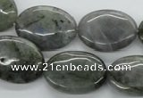 CLB115 15.5 inches 18*25mm oval labradorite gemstone beads wholesale