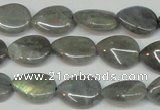 CLB157 15.5 inches 10*14mm flat teardrop labradorite gemstone beads