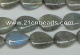 CLB158 15.5 inches 12*16mm flat teardrop labradorite gemstone beads