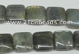 CLB164 15.5 inches 14*14mm square labradorite gemstone beads