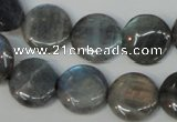 CLB171 15.5 inches 18mm flat round labradorite gemstone beads