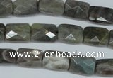 CLB195 15.5 inches 8*12mm faceted rectangle labradorite beads