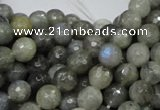 CLB22 15.5 inches 8mm faceted round labradorite gemstone beads