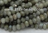 CLB28 15.5 inches 4*6mm faceted rondelle labradorite gemstone beads