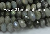 CLB30 15.5 inches 6*10mm faceted rondelle labradorite gemstone beads