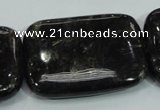 CLB311 15.5 inches 30*40mm rectangle black labradorite gemstone beads