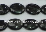 CLB312 15.5 inches 13*18mm oval black labradorite gemstone beads