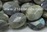 CLB44 15.5 inches 15*20mm faceted oval labradorite gemstone beads