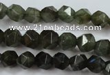 CLB451 15 inches 6mm faceted nuggets labradorite gemstone beads