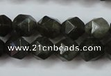CLB452 15 inches 8mm faceted nuggets labradorite gemstone beads