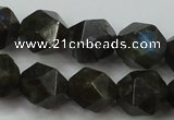 CLB454 15 inches 12mm faceted nuggets labradorite gemstone beads