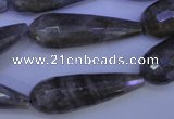 CLB507 15.5 inches 10*30mm faceted teardrop labradorite beads