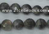 CLB514 15.5 inches 12mm faceted round labradorite gemstone beads