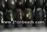 CLB626 15.5 inches 10*20mm faceted rondelle AB-color labradorite beads