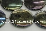 CLB641 15.5 inches 25mm flat round AB-color labradorite beads
