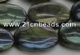 CLB653 15.5 inches 20*30mm oval AB-color labradorite beads