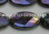 CLB662 15.5 inches 18*25mm faceted oval AB-color labradorite beads