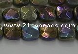 CLB685 15.5 inches 8mm faceted square AB-color labradorite beads
