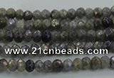 CLB755 15.5 inches 2.5*4mm faceted rondelle AB-color labradorite beads