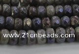 CLB757 15.5 inches 5*8mm faceted rondelle AB-color labradorite beads