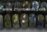 CLB760 15.5 inches 8*14mm faceted rondelle AB-color labradorite beads
