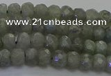 CLB772 15.5 inches 4*6mm faceted rondelle labradorite beads