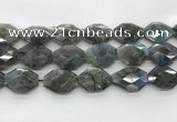 CLB798 20*28mm - 22*32mm faceted octagonal labradorite beads