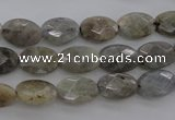 CLB86 15.5 inches 8*12mm faceted oval labradorite beads wholesale