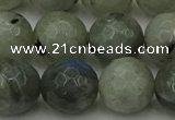 CLB865 15.5 inches 14mm faceted round AB grade labradorite beads