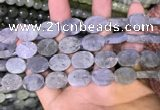 CLB888 15.5 inches 12*16mm oval matte labradorite beads wholesale