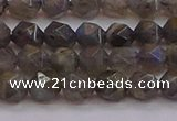 CLB972 15.5 inches 8mm faceted nuggets labradorite gemstone beads