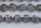 CLB981 15.5 inches 6mm faceted nuggets labradorite beads wholesale