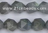 CLB984 15.5 inches 12mm faceted nuggets labradorite beads wholesale