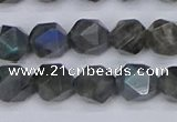 CLB987 15.5 inches 8mm faceted nuggets labradorite beads wholesale