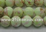 CLE201 15.5 inches 6mm round lemon turquoise beads wholesale