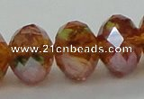 CLG21 13.5 inches 9*12mm faceted rondelle handmade lampwork beads