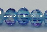 CLG46 13 inches 9*12mm faceted rondelle handmade lampwork beads