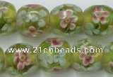 CLG761 15 inches 12mm round lampwork glass beads wholesale