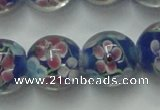 CLG762 15 inches 12mm round lampwork glass beads wholesale