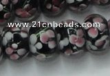CLG766 14.5 inches 8*12mm rondelle lampwork glass beads wholesale
