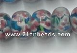 CLG772 14.5 inches 8*12mm rondelle lampwork glass beads wholesale