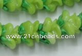 CLG789 15.5 inches 11*13mm rose lampwork glass beads wholesale
