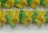 CLG793 15.5 inches 11*13mm rose lampwork glass beads wholesale