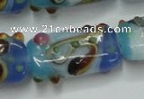 CLG805 15 inches 14*24mm rectangle lampwork glass beads wholesale