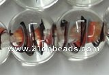 CLG853 15.5 inches 18mm round lampwork glass beads wholesale